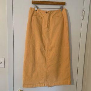 Honey yellow midi skirt